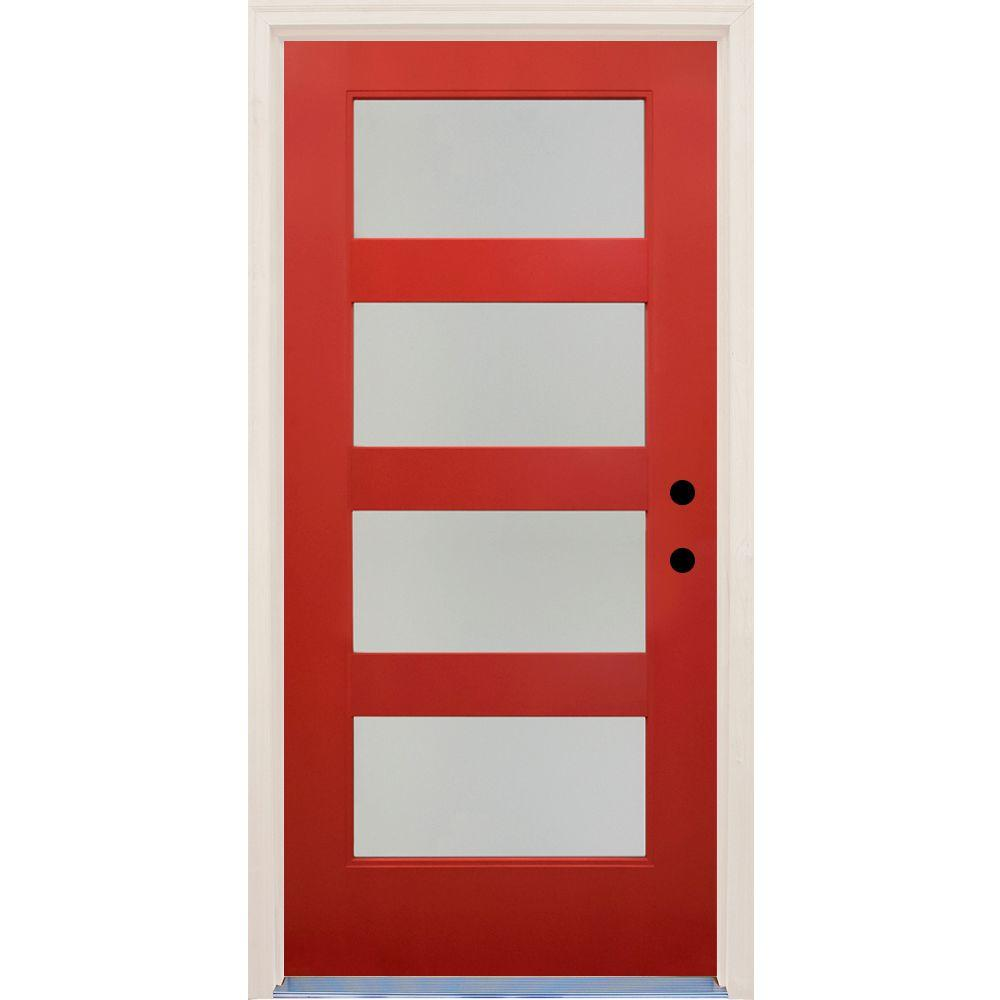 Home Depot Doors Exterior: Builder's Choice 36 In. X 80 In. Elite Engine Satin Etch