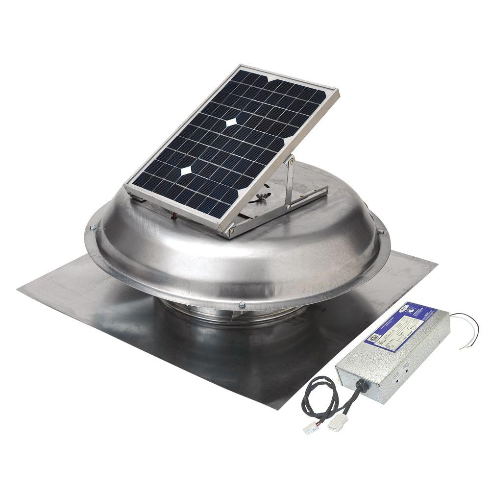 Master Flow 500/900 CFM Dual-Powered Roof-Mount Exhaust Fan (Solar/Electric Hybrid)