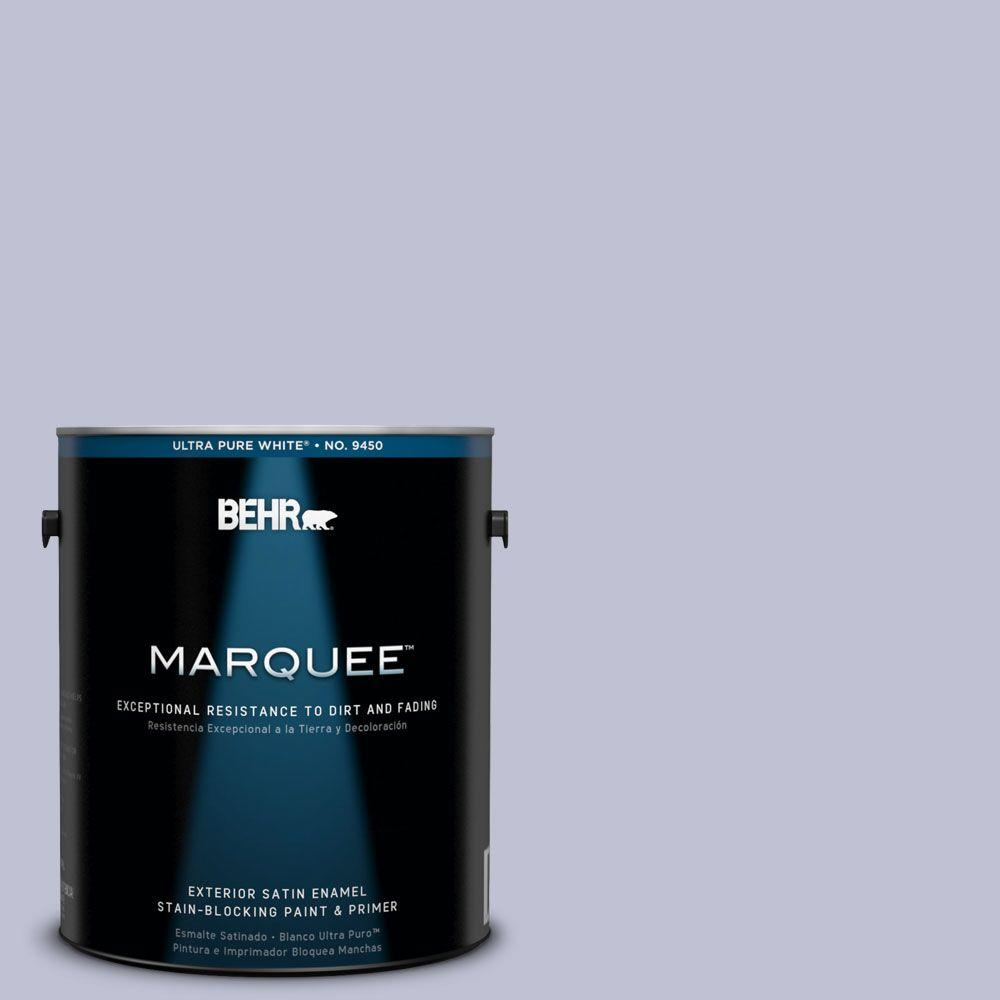 BEHR MARQUEE 1-gal. #S560-2 Lavender Honor Satin Enamel Exterior Paint-945001 -