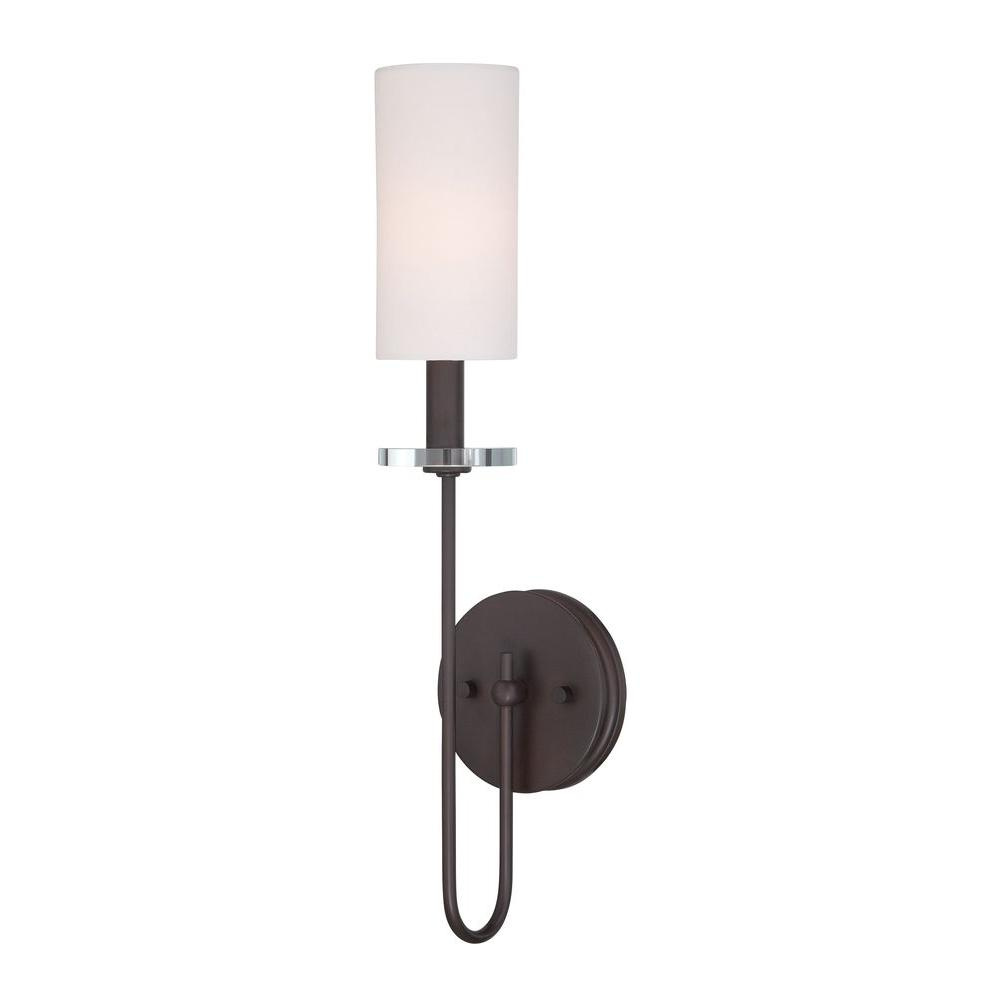 Monroe Collection Dark Antique Bronze Sconce-WI973597 - The Home Depot