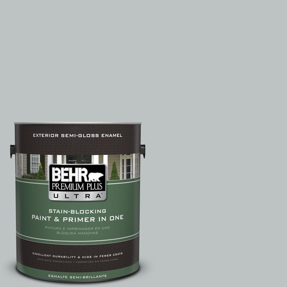 BEHR Premium Plus Ultra 1 gal. #PPU26-18 Silver Mine Semi-Gloss Enamel