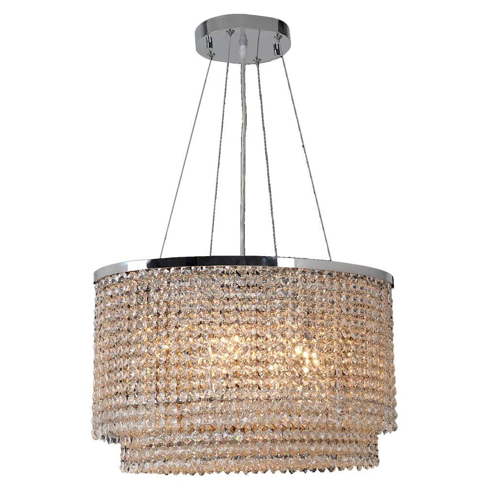 Worldwide Lighting Prism Collection 8-Light Chrome Chandelier