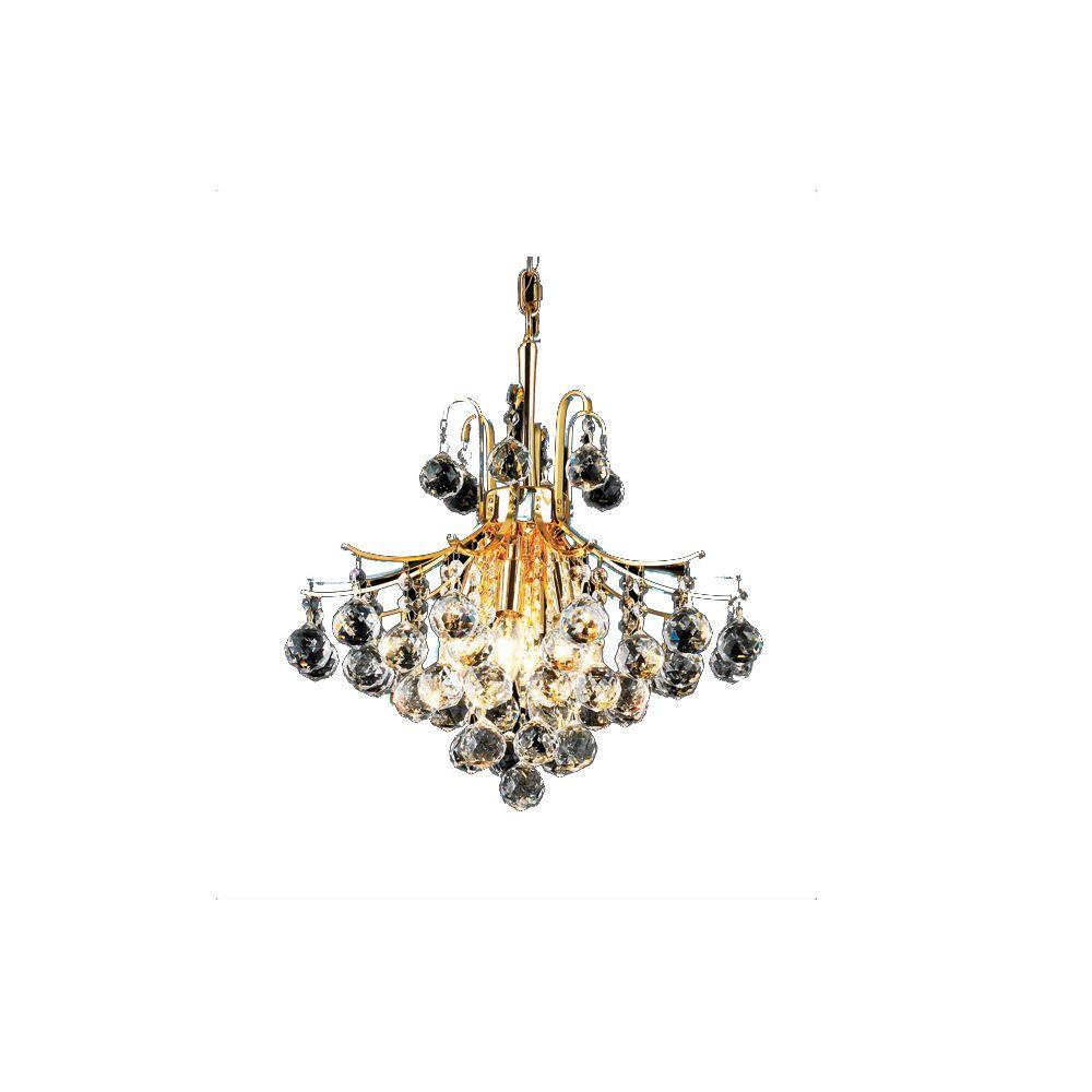 Goldenage USA 6-Light Crystal Chandelier in Gold Finish-DISCONTINUED