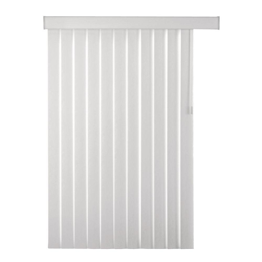 Home Decorators Collection White Stucco Pvc Vertical Blind Louver Set 4 5 In W X 84 In L 7