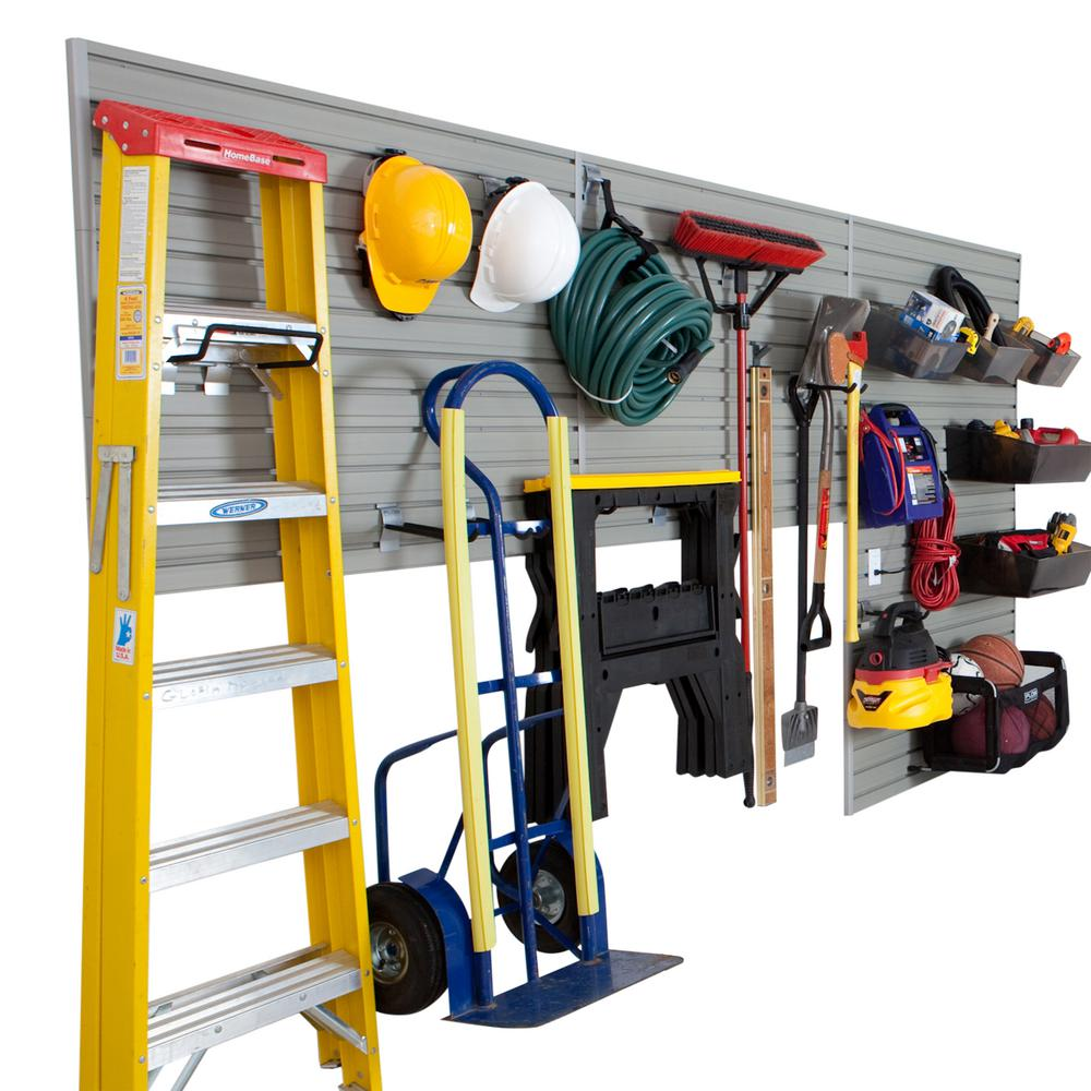 Modular Garage and Hardware Wall Storage Set with Accessories in Silver