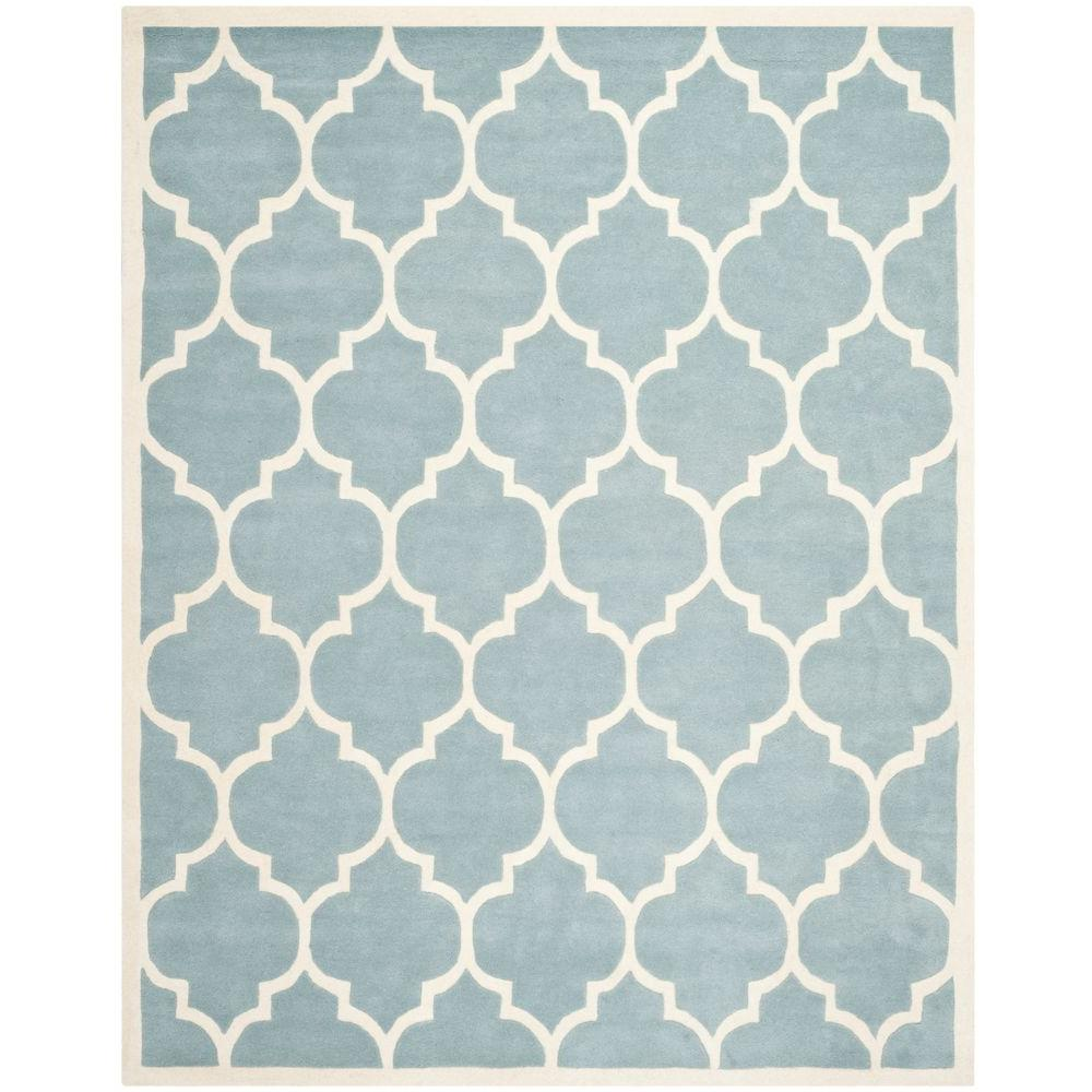 Chatham Blue/Ivory 11 ft. x 15 ft. Area Rug