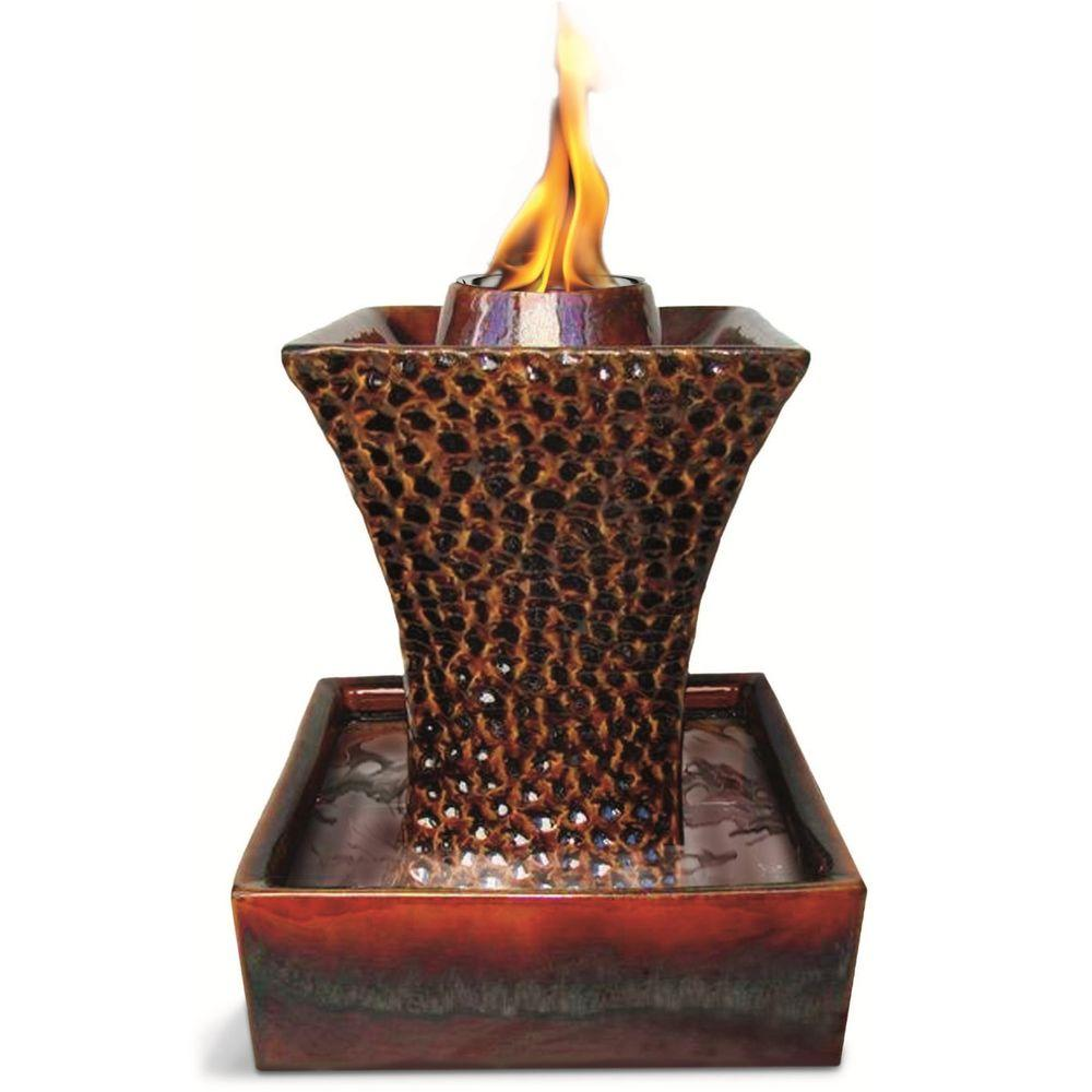 Pacific Decor Concave Flame Fountain in Brown-DISCONTINUED