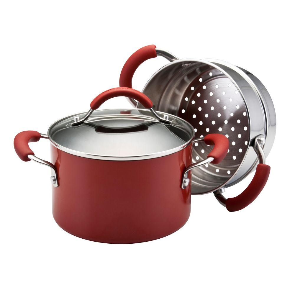 KitchenAid 3 qt. Covered Saucepot with stainless steel Steamer Insert-DISCONTINUED