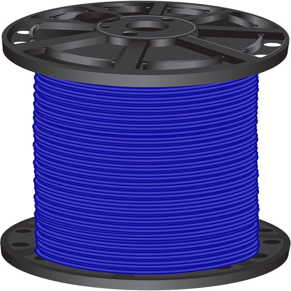 Southwire 2,500 ft. 8-Gauge Blue Stranded CU SIMpull THHN Wire-20491705 -