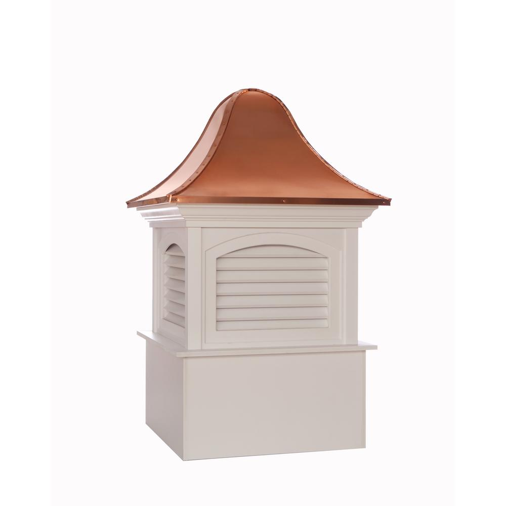 Fairfield 48 in. x 78 in. Vinyl Cupola with Copper Roof