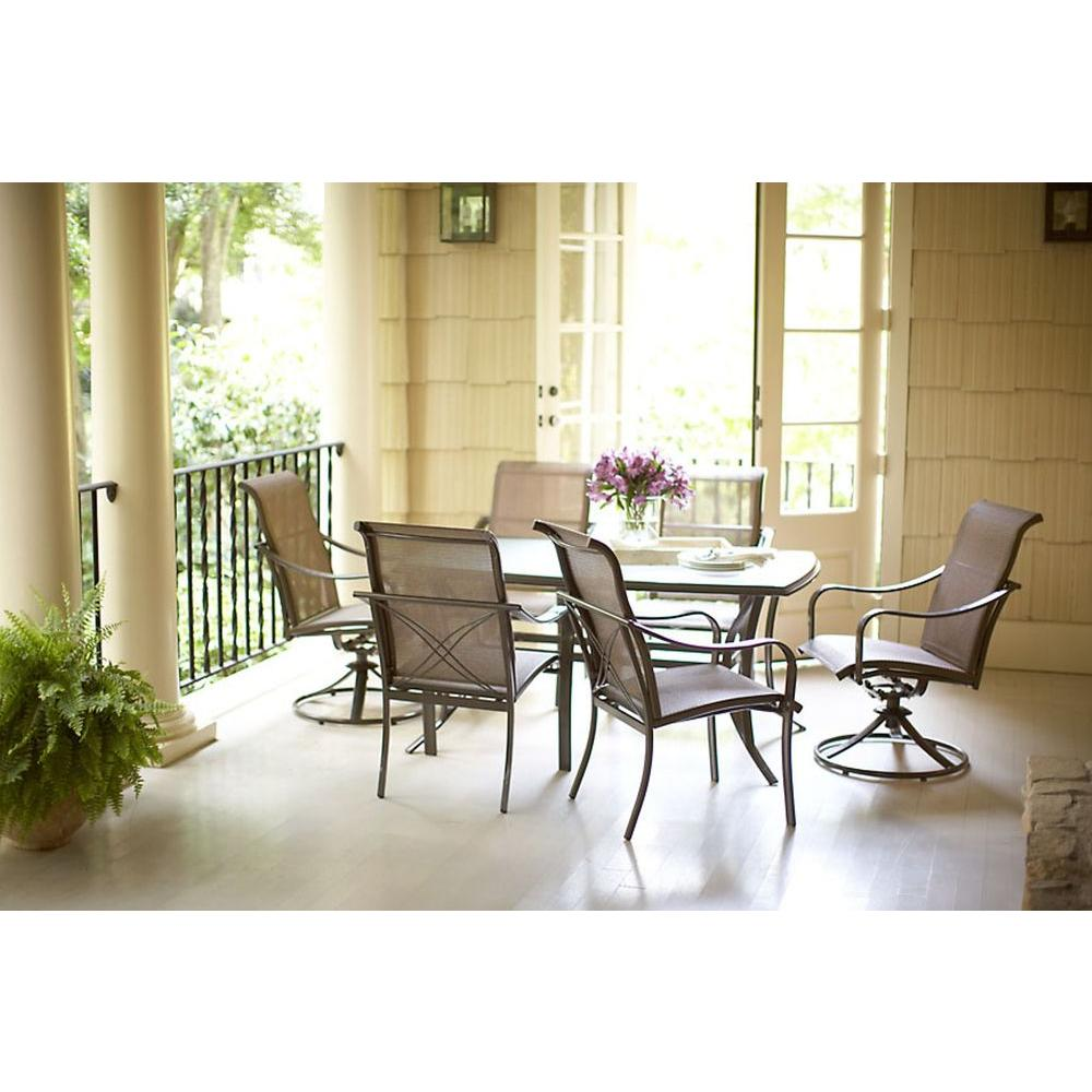 Martha Stewart Living Grand Bank 7 Piece Patio Dining Set Dy4067 7pc The Home Depot