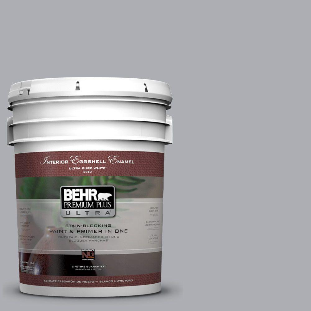 behr premium plus ultra 5-gal. #760e-3 gray timber wolf eggshell