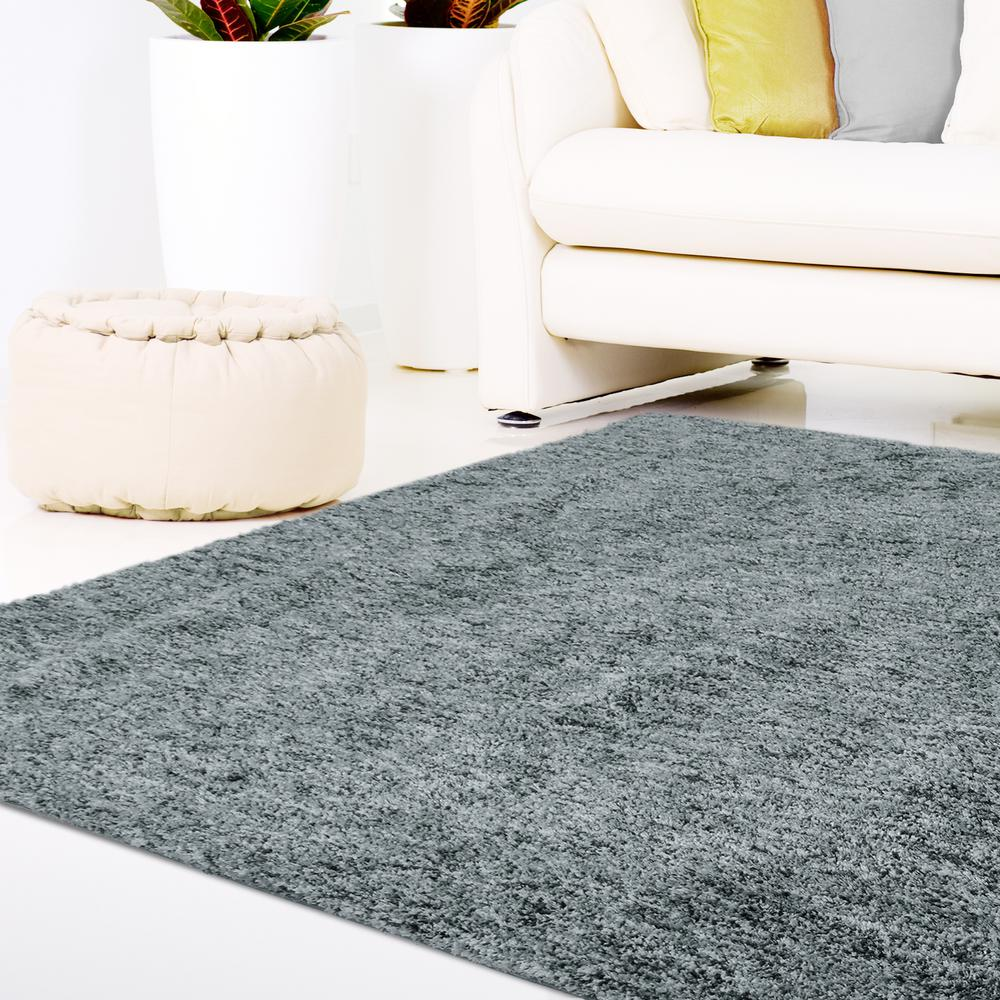 Lanart Soft Touch Shag Grey 5 ft. x 7 ft. Area Rug