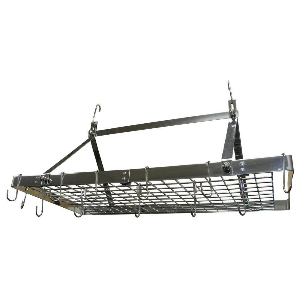 Range Kleen Pot Rack Rectangle Stainless Steel-CW6014 - The Home Depot