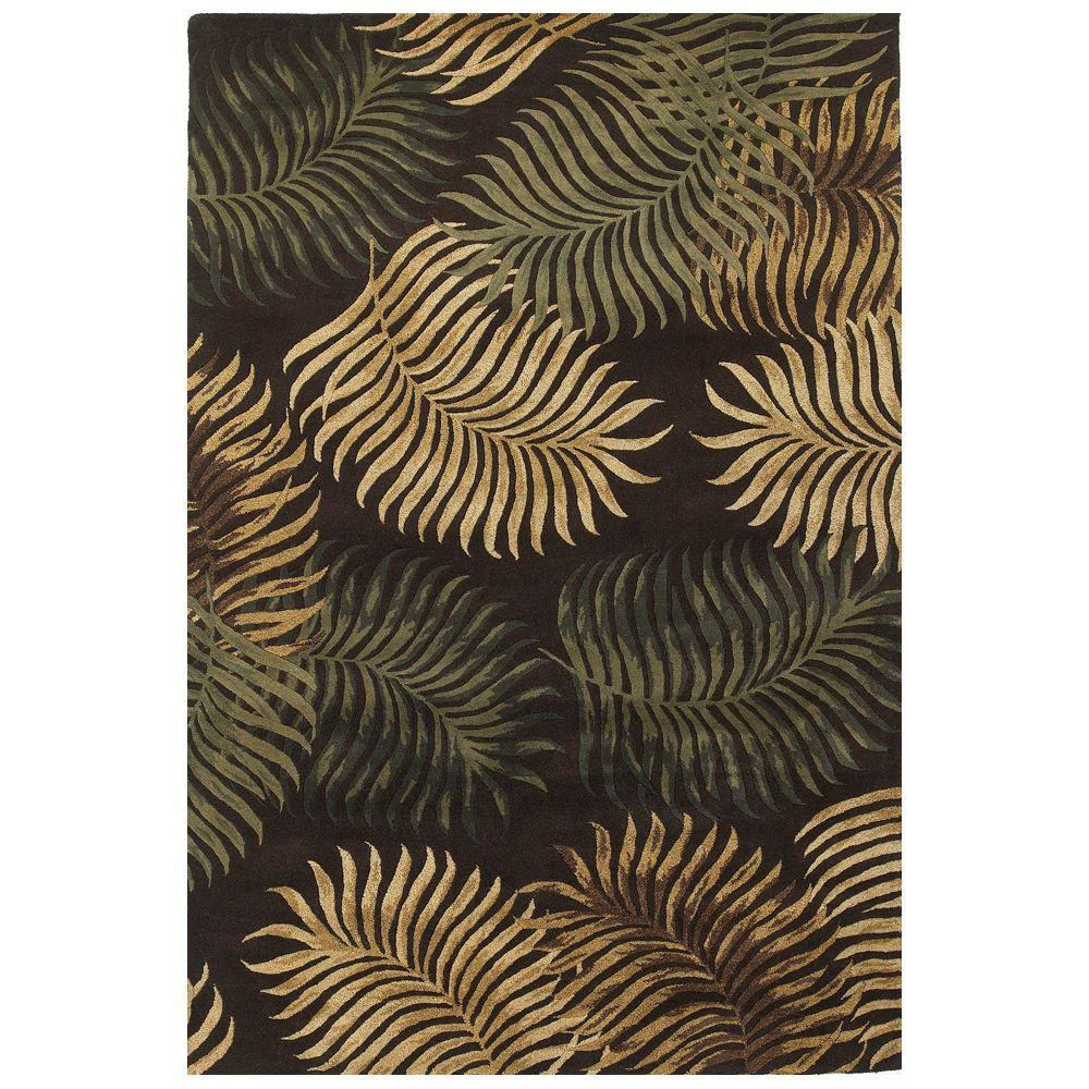 Giant Fern Espresso 8 ft. x 10 ft. 6 in. Area