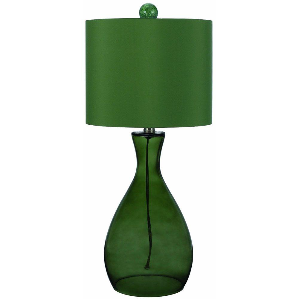 Mercer 26 in. Green Hand-Blown Glass Table Lamp