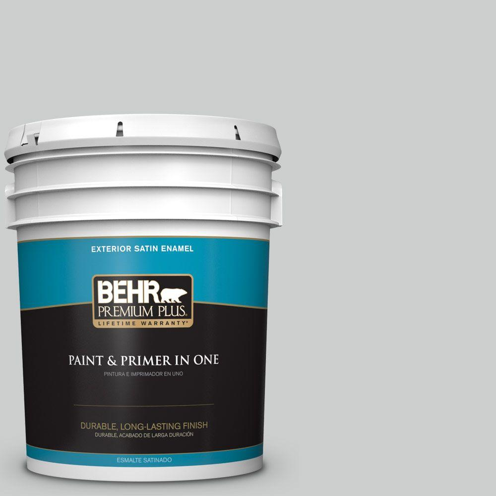 5-gal. #N460-2 Planetary Silver Satin Enamel Exterior Paint