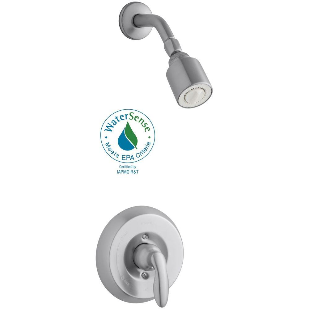 KOHLER Coralais 1-Handle Shower Faucet Trim Kit in Brushed Chrome (Valve Not Included)