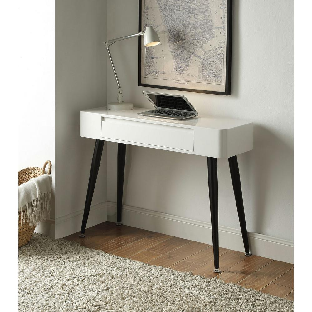 4D Concepts Console Desk in Black and White-124904 - The Home