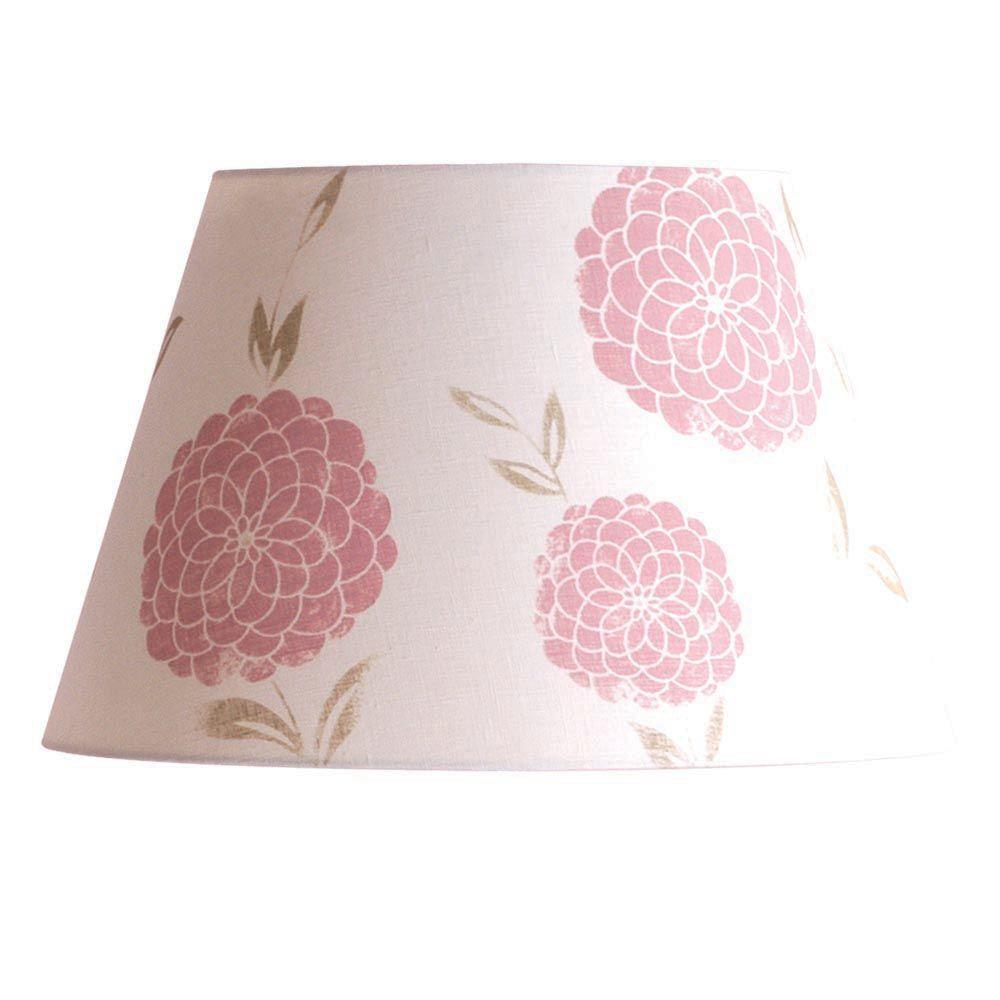 Laura Ashley Pendant Lights Erin 16 in. Chalk Pink Barrel Shade SLB28116P