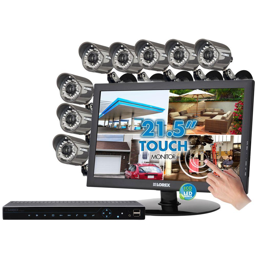 Lorex Edge 2 8 CH 1 TB Hard Drive Surveillance System with (8) 660 TVL Cameras and 22 in. Monitor-DISCONTINUED