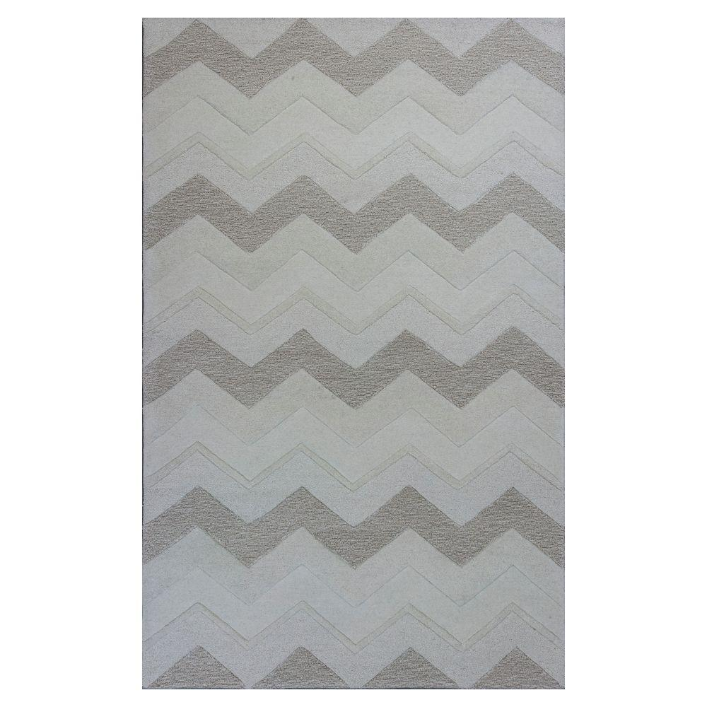 Kas Rugs Chevron Style Ivory 5 ft. x 8 ft. Area