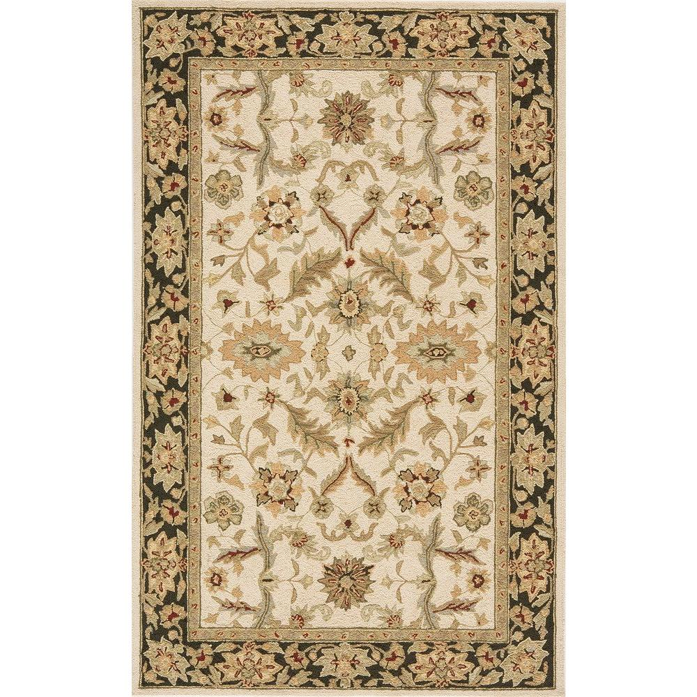 Terrace Traditions Ivory 5 ft. x 8 ft. All-Weather Patio Area Rug