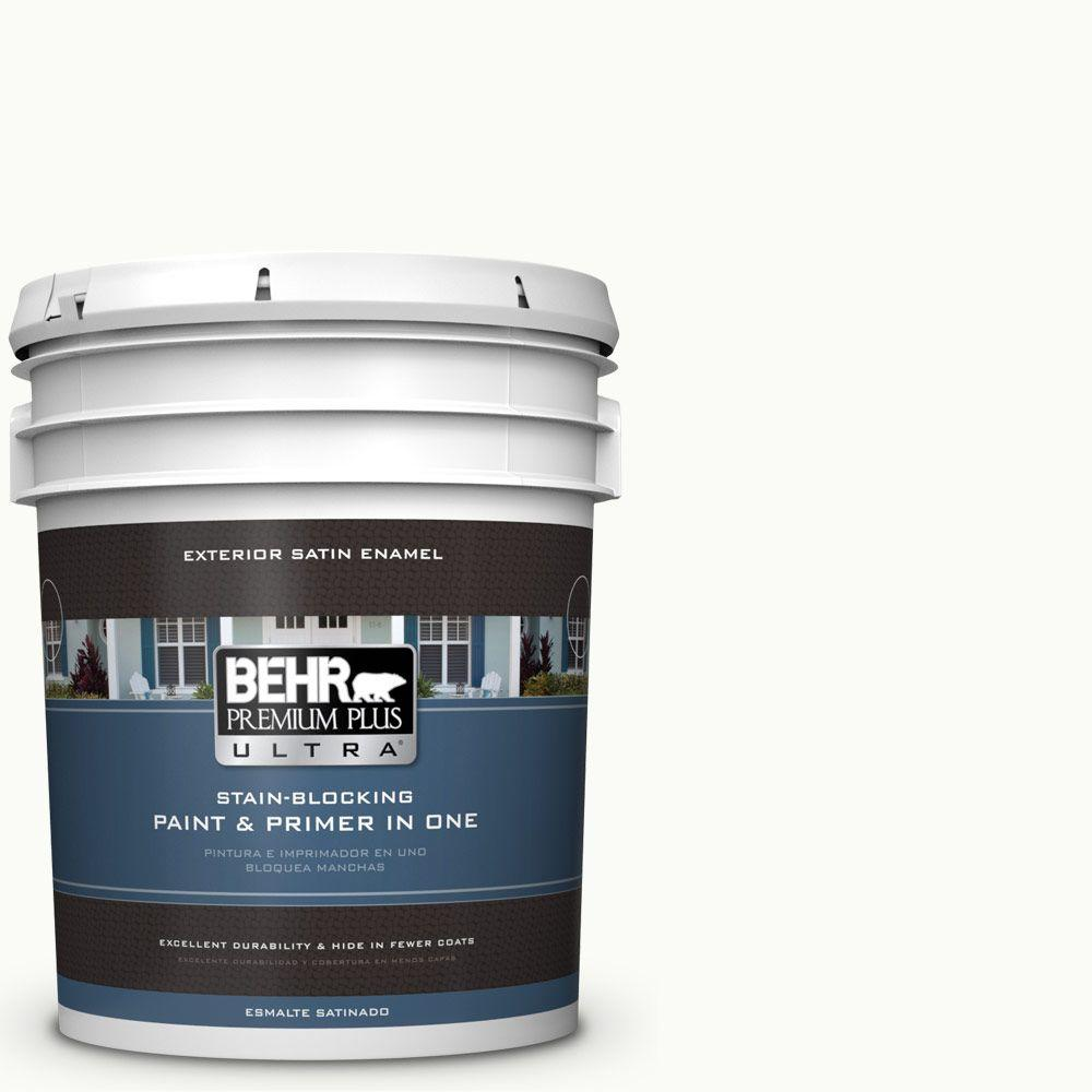 5-gal. #PPU18-6 Ultra Pure White Satin Enamel Exterior Paint