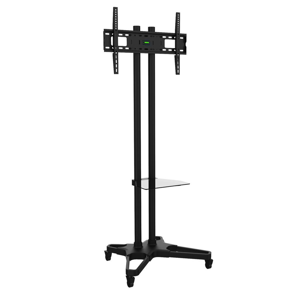 EMATIC Mobile TV Stand and Mount, Black