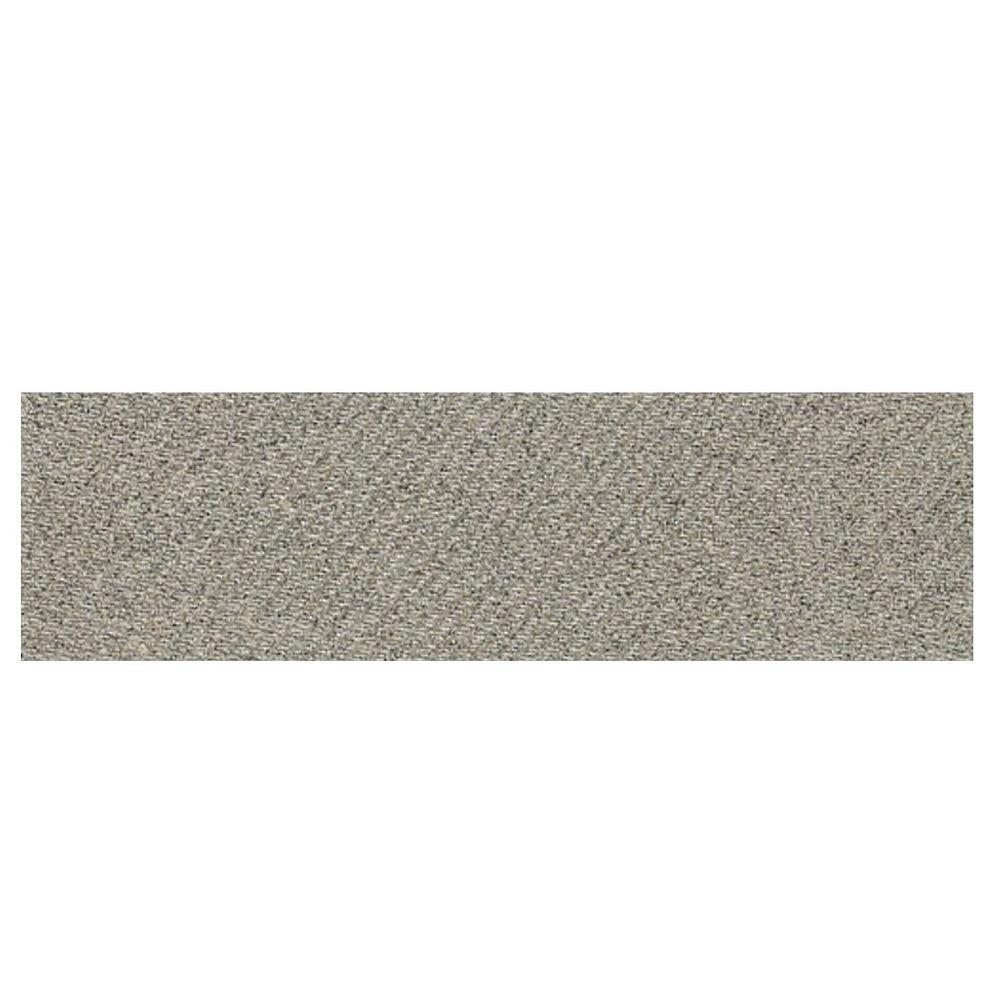 Daltile Identity Metro Taupe Fabric 4 in. x 12 in. Porcelain Polished Bullnose Floor and Wall Tile