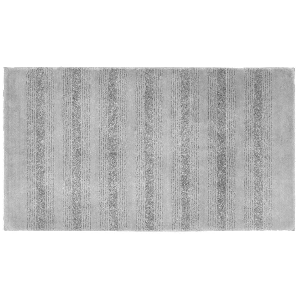 Essence Platinum Gray 30 in  x 50 in  Washable Bathroom Accent Rug. Garland Rug Essence Platinum Gray 30 in  x 50 in  Washable