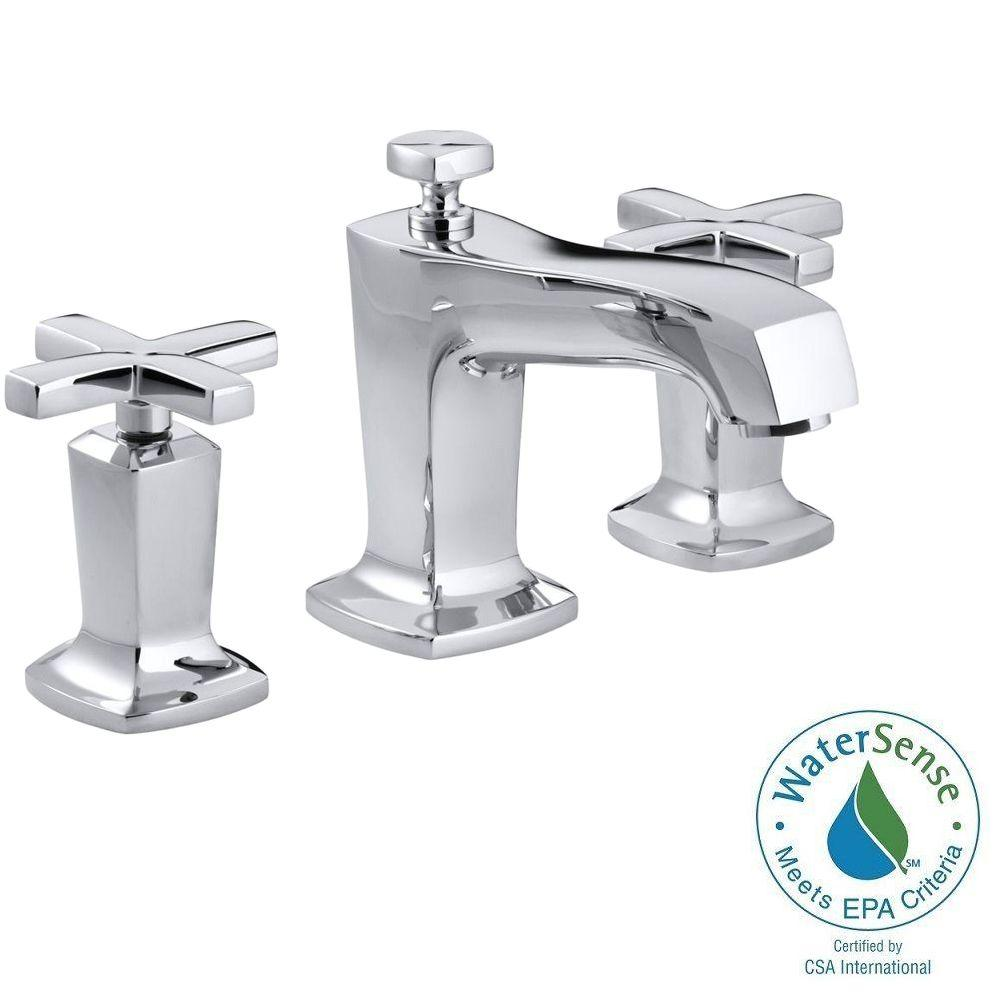 Margaux 8 in. Widespread 2-Handle Low-Arc Water-Saving Bathroom Faucet in