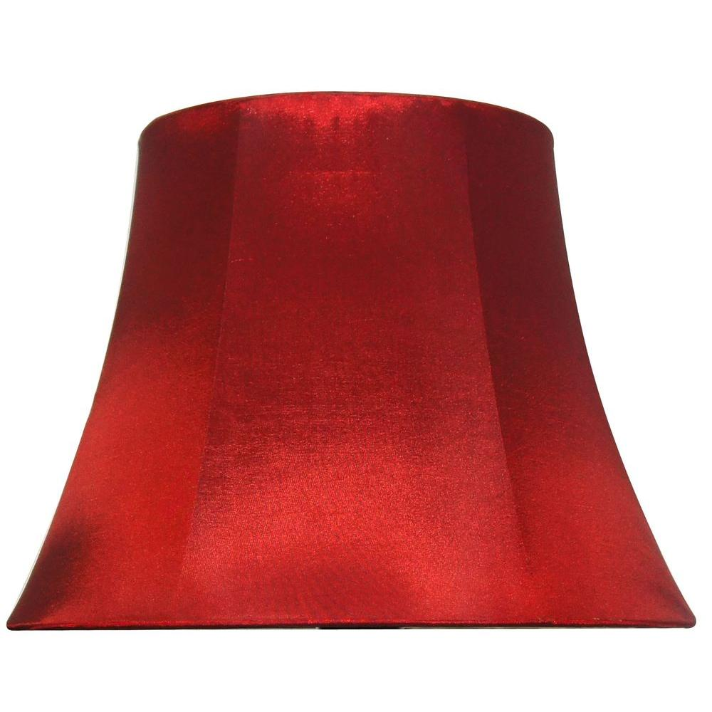 Red Lamp Shades : Hampton bay mix match burgundy round bell table lamp