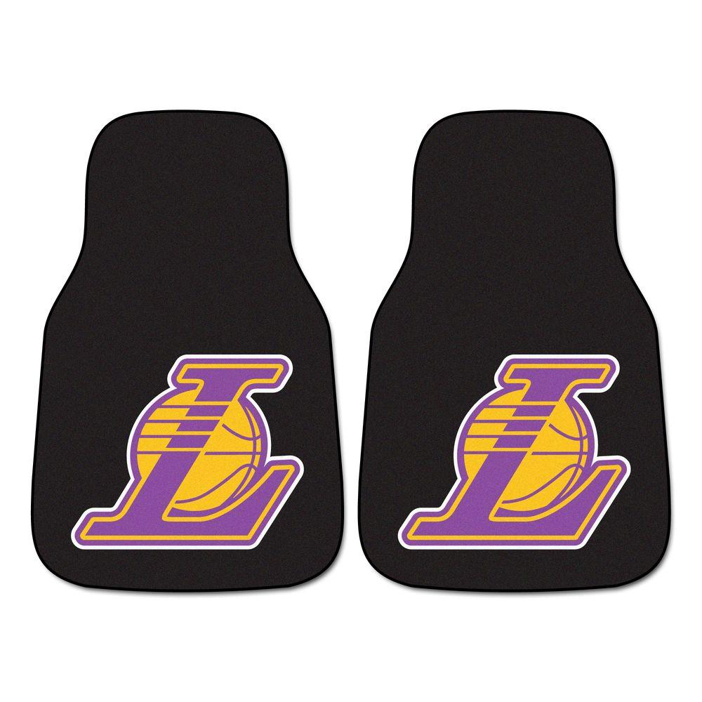 FANMATS Los Angeles Lakers 18 in. x 27 in. 2-Piece Carpeted