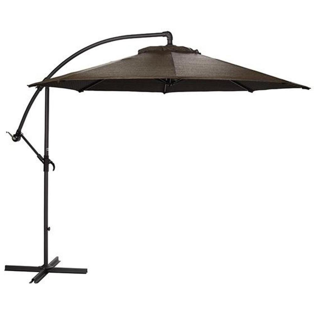 Home Decorators Collection 10 ft. Cantilever Patio Umbrella in Mocha with Black Frame
