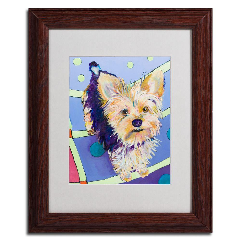11 in. x 14 in. Claire Dark Wooden Framed Matted Art