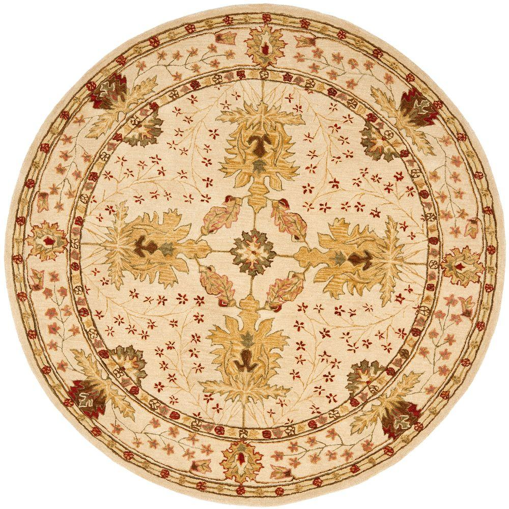 Safavieh Anatolia Ivory 4 ft. x 4 ft. Round Area Rug-AN540A-4R