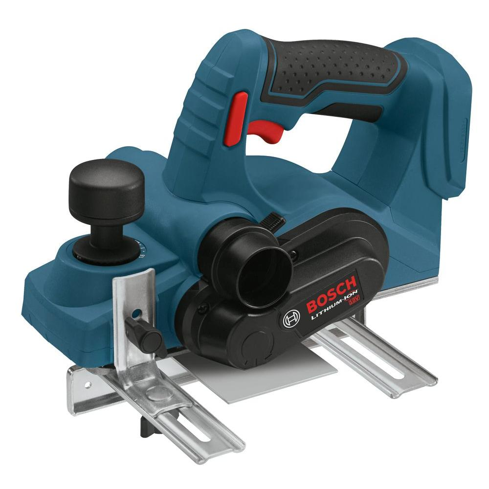 Bosch 18 Volt Lithium-Ion Cordless Electric 3-1/4 in. Planer with Reversible