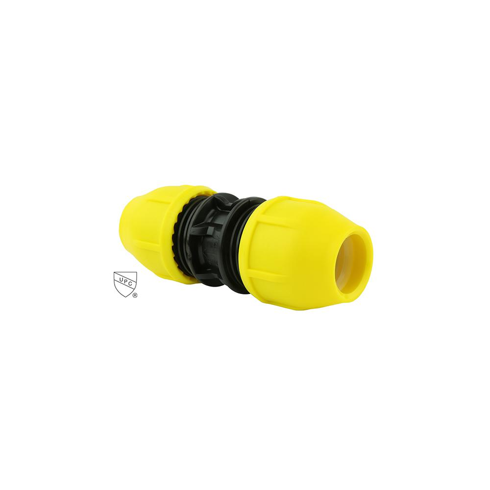 1/2 in. Underground Yellow Poly Gas Pipe Coupler