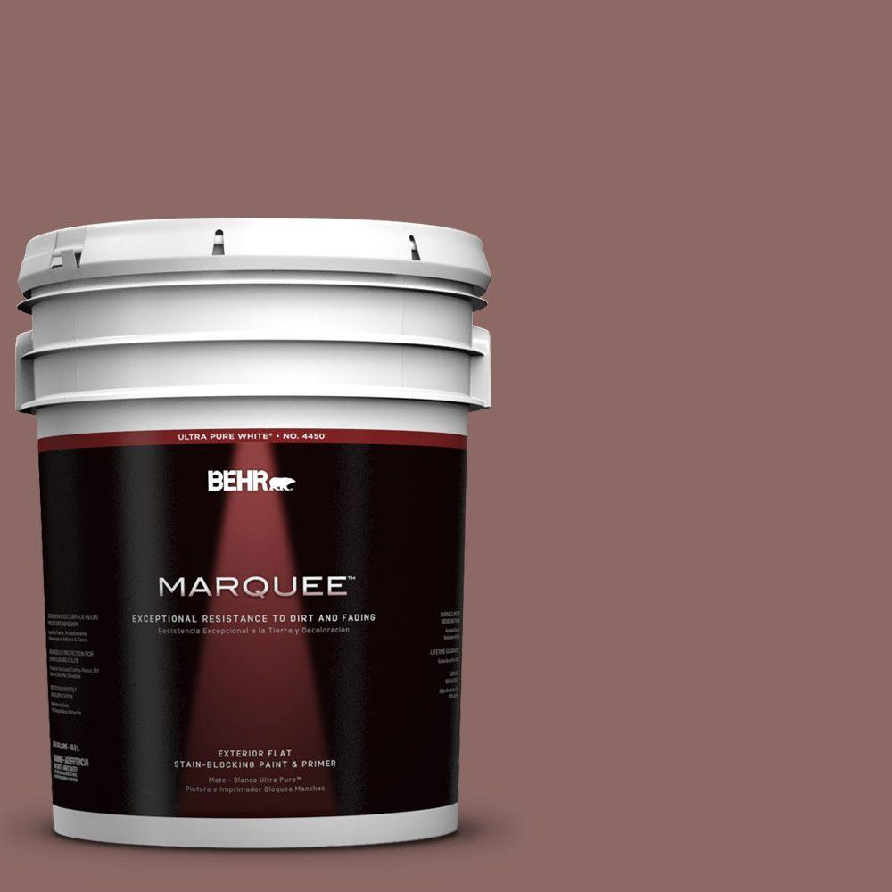 5-gal. #700B-5 Red Stone Flat Exterior Paint