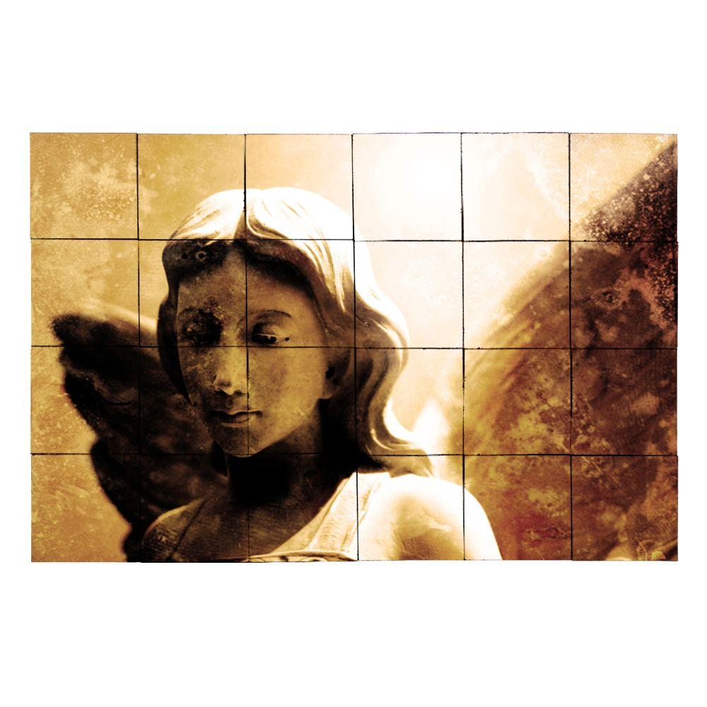 Tile My Style Angel1 36 in. x 24 in. Tumbled Marble Tiles (6 sq. ft. /case)