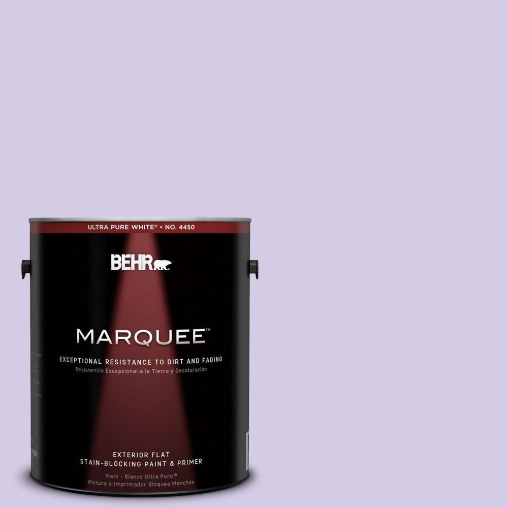 BEHR MARQUEE 1-gal. #640A-3 Potentially Purple Flat Exterior Paint-445001 - The