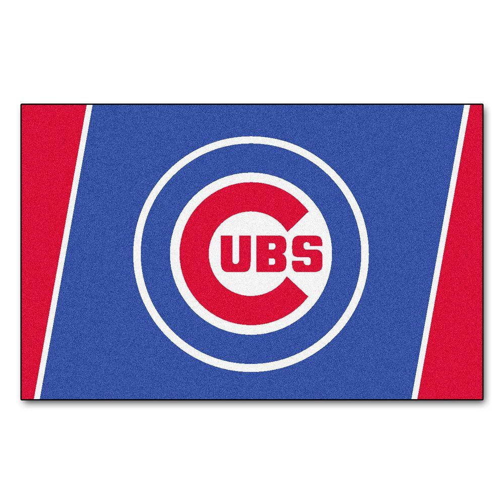 FANMATS Chicago Cubs 4 ft. x 6 ft. Area Rug