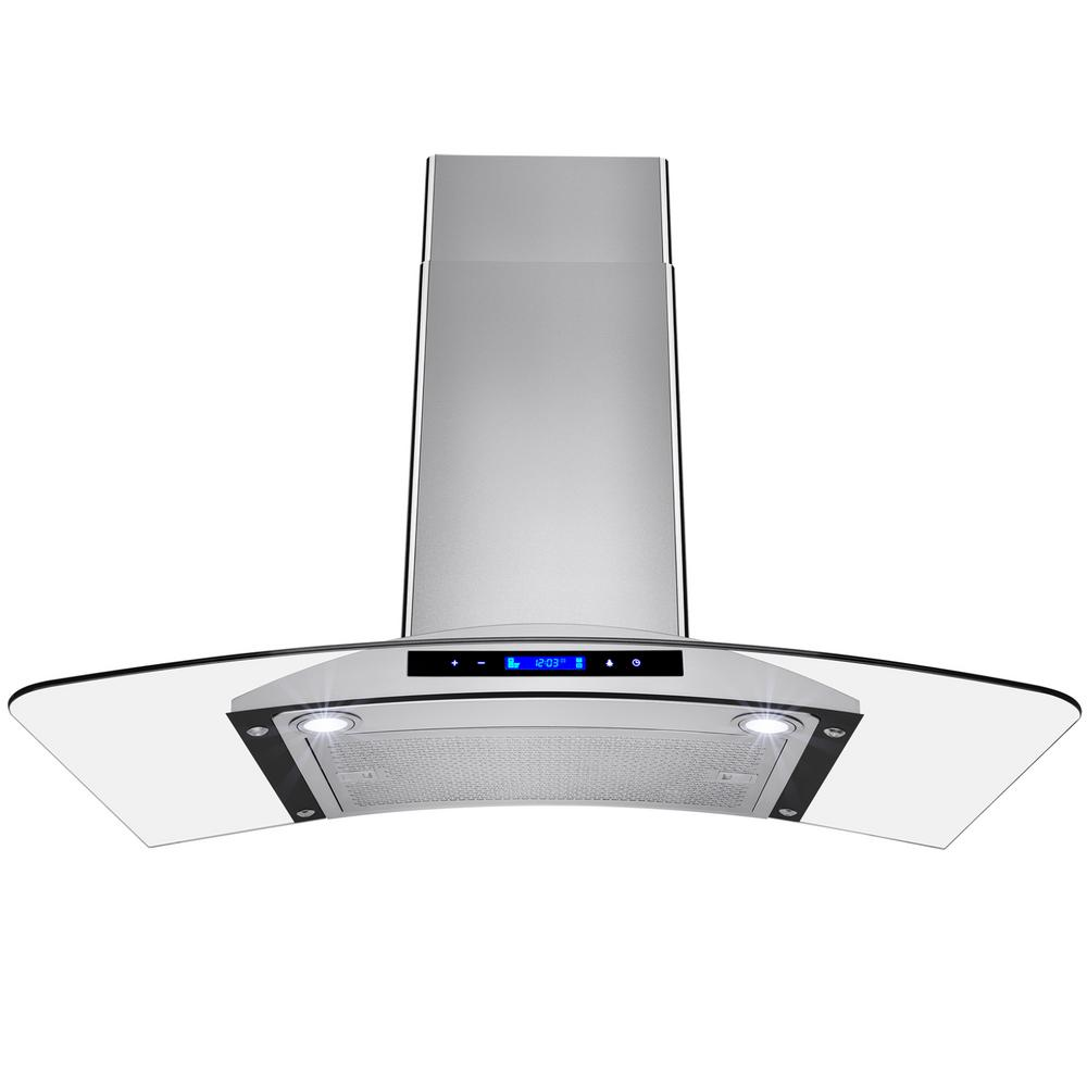 36 in. Convertible Kitchen Wall Mount Range Hood in Stainless Steel