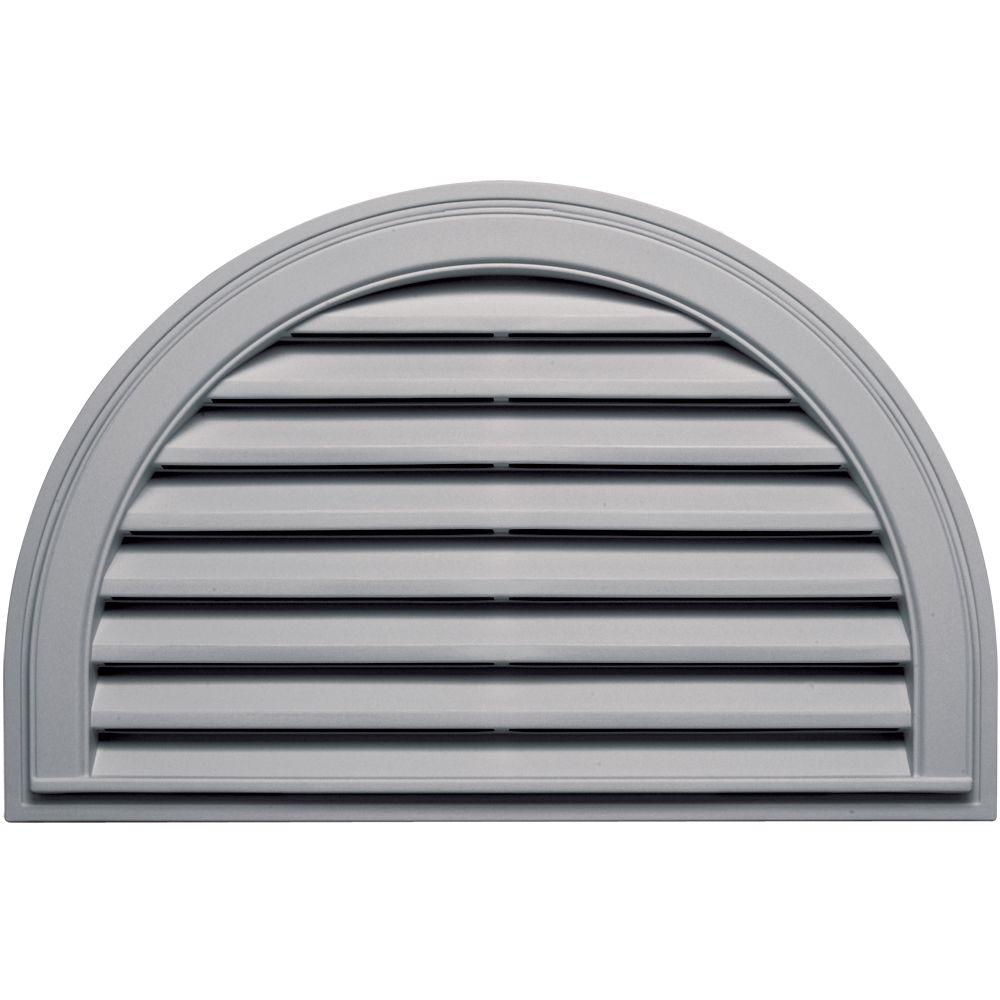 Builders Edge 22 in. x 34 in. Half Round Gable Vent