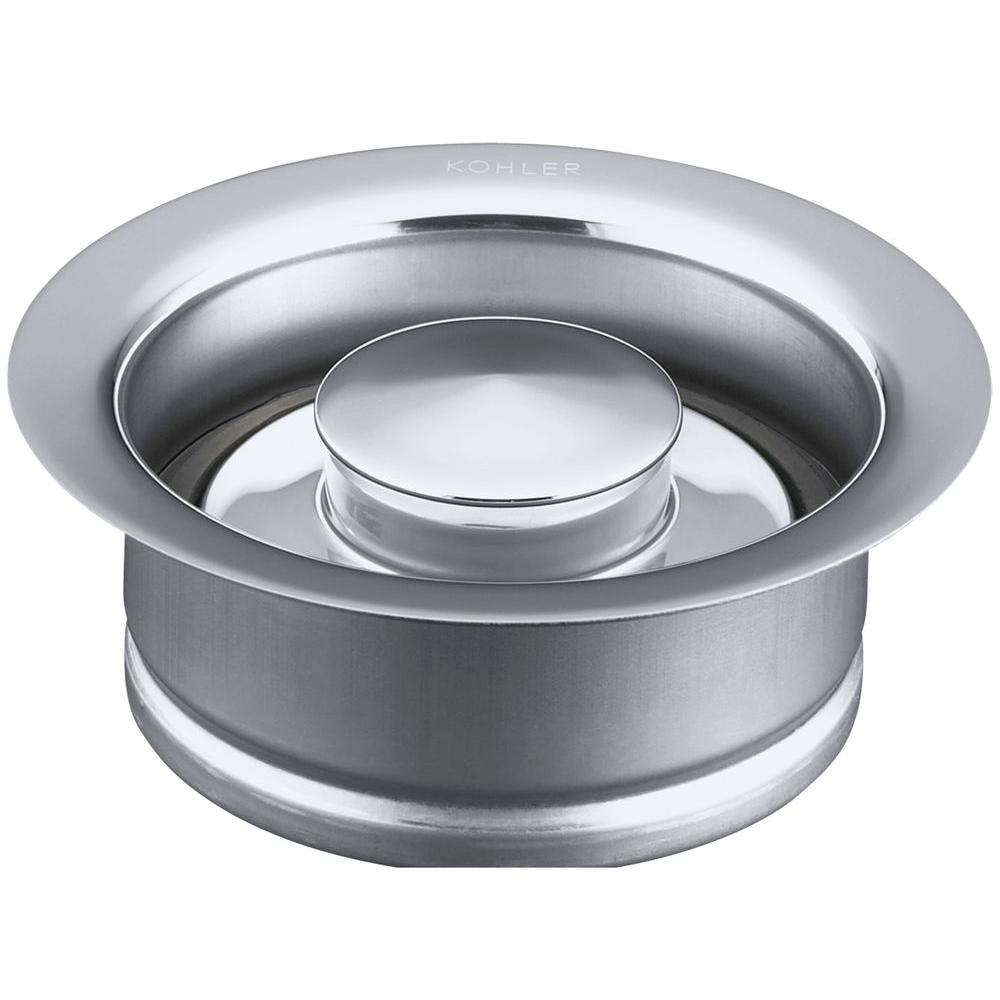 4-1/2 in. Disposal Flange with Stopper in Polished Chrome