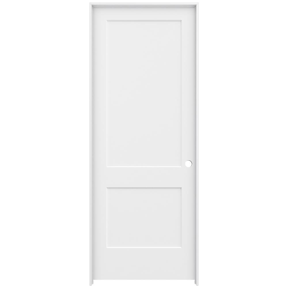 Jeld Wen 36 In X 96 In Smooth 2 Panel Primed Solid Core Molded Composite Single Prehung
