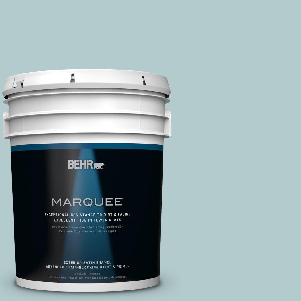 5-gal. #PPU13-15 Clear Pond Satin Enamel Exterior Paint