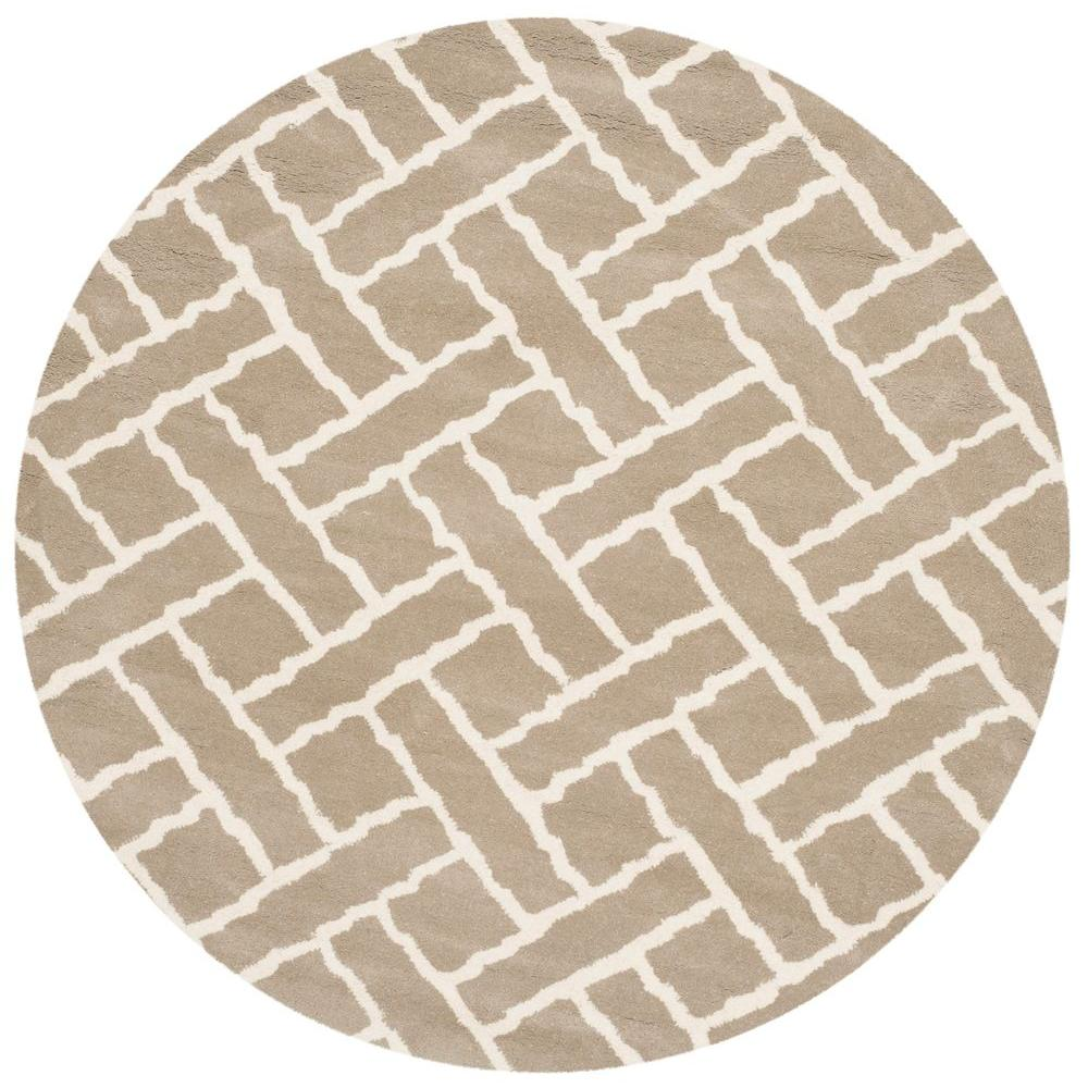 Chatham Beige/Ivory 5 ft. x 5 ft. Round Area Rug