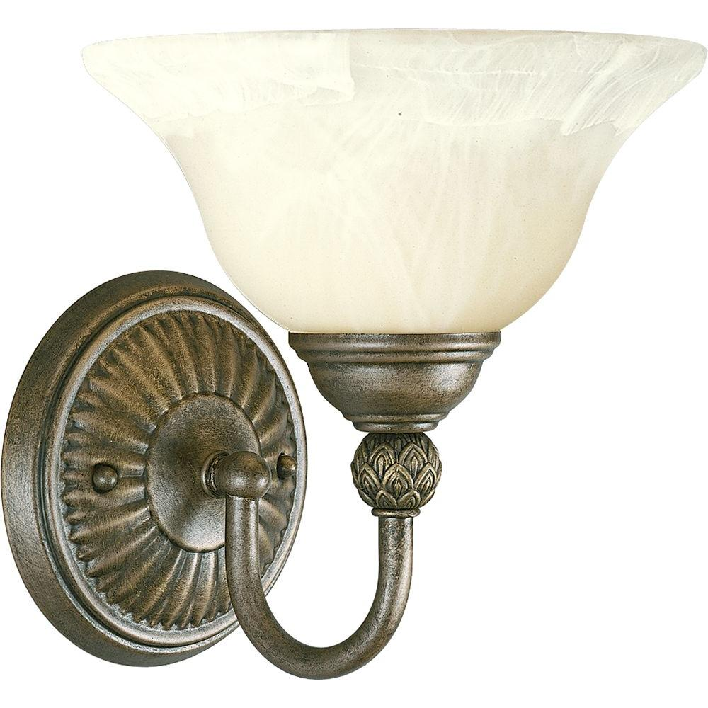 Savannah Collection 1-Light Burnished Chestnut Vanity Fixture